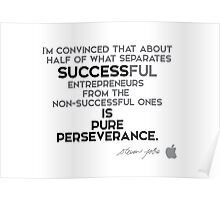 success is pure perseverance - steve jobs Poster