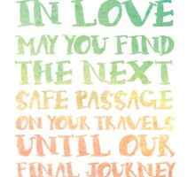 The Travellers Prayer Sticker