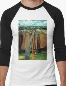 Urban Leisure, vintage collage Men's Baseball ¾ T-Shirt