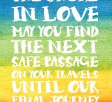 The Travellers Prayer - Reversed Sticker