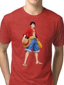 ONE PIECE - CAPTAIN LUFFY Tri-blend T-Shirt