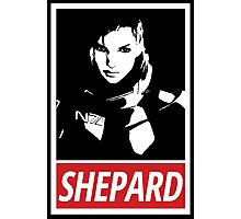 Femshep (Mass Effect 3): Obey Parody Photographic Print