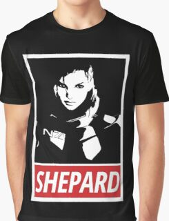 Femshep (Mass Effect 3): Obey Parody Graphic T-Shirt