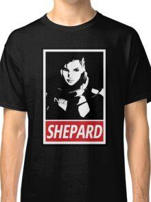 Femshep (Mass Effect 3): Obey Parody Classic T-Shirt