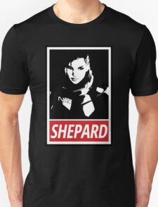 Femshep (Mass Effect 3): Obey Parody T-Shirt