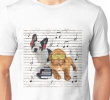 Musical Notes French Bulldog & Dogue De Bordeaux Unisex T-Shirt
