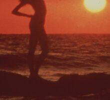 Sunset Girl Sticker