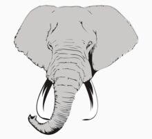 Pop Elephant (Plain) Baby Tee