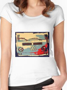 Vintage Early bay pop art Women's Fitted Scoop T-Shirt