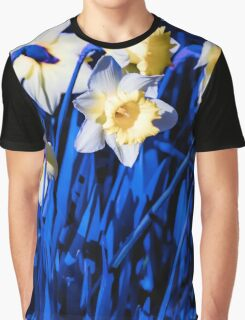Blue Daffodils. Graphic T-Shirt