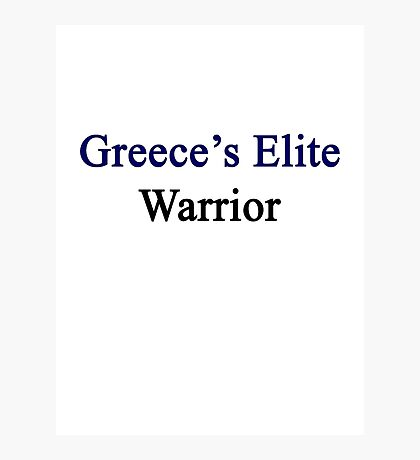 Greece's Elite Warrior  Photographic Print