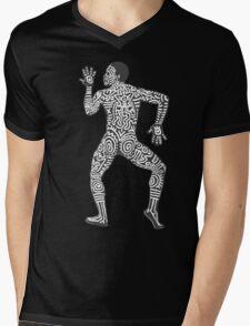 DAB HARING - White Mens V-Neck T-Shirt