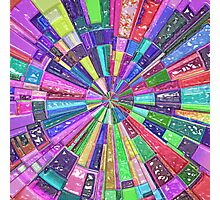 Abstract Color Wheel Photographic Print