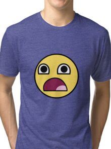 Surprised smiley Tri-blend T-Shirt