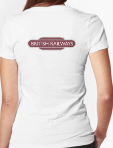 BRITISH RAILWAYS, enthusiast, SIGN, 'Flying Sausage, format Womens Fitted T-Shirt