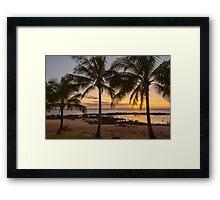 Sharks Cove Sunset 4 - Oahu Hawaii Framed Print
