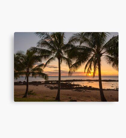 Sharks Cove Sunset 4 - Oahu Hawaii Canvas Print