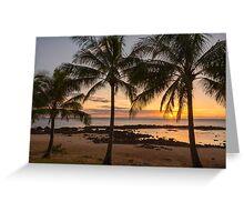 Sharks Cove Sunset 4 - Oahu Hawaii Greeting Card