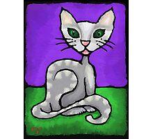 Girl Cat. Photographic Print