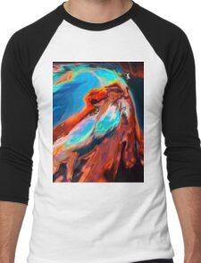 Abstract 47 Men's Baseball ¾ T-Shirt