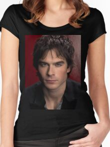 Ian Somerhalder The Vampire Diaries Women's Fitted Scoop T-Shirt