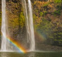 Wailua Falls Double Rainbow Kauai Hawaii Sticker