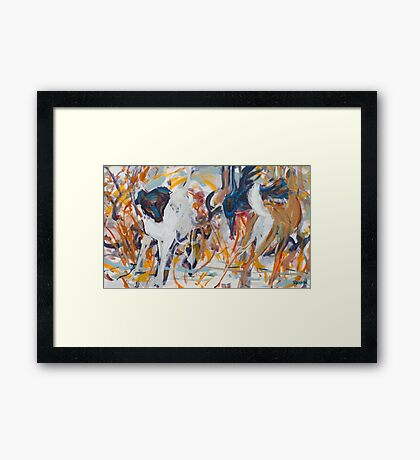 Kate and Deer Framed Print