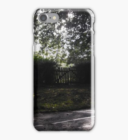 Morning Sun Over the Allotments, Hyde Park iPhone Case/Skin