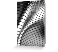 Curved Metal Apple Silver Gold,  Greeting Card