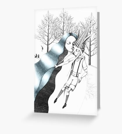 The Fairy with Turquoise Hair Greeting Card