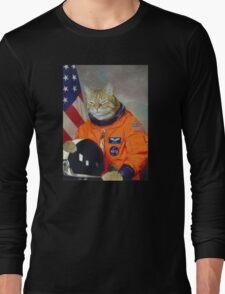 Astronaut Cat Kitten Funny Space Long Sleeve T-Shirt