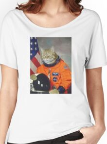 Astronaut Cat Kitten Funny Space Women's Relaxed Fit T-Shirt