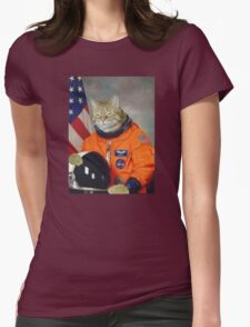 Astronaut Cat Kitten Funny Space Womens Fitted T-Shirt