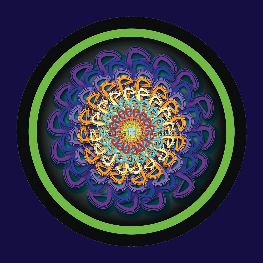 Infinite Path Martial Arts Mandala 5 by Infinite Path  Creations