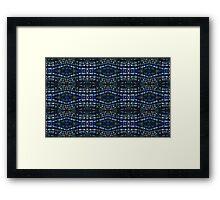 Blue Drawing Ink Print Framed Print