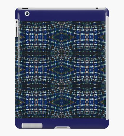 Blue Drawing Ink Print iPad Case/Skin