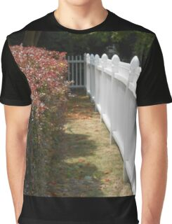 Flowers and Fence Graphic T-Shirt