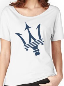 Maserati of Birmingham Blue Trident Women's Relaxed Fit T-Shirt