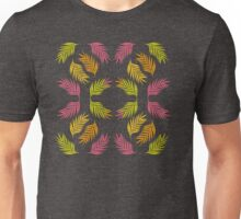 Tropical Palm in Teal Unisex T-Shirt