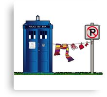 Doctor Who - The Tardis Canvas Print