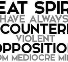 great spirits encountered opposition - einstein Sticker