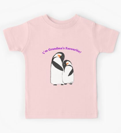 Grandma's Favourite Baby Penguin Kids Tee