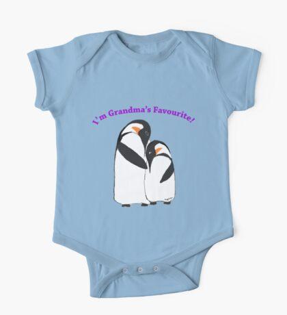 Grandma's Favourite Baby Penguin One Piece - Short Sleeve