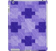 Blue Blocks Pixel Pattern iPad Case/Skin