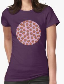 Flowers (pink) Womens Fitted T-Shirt