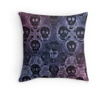 Red Violet Skulls Alternate Throw Pillow
