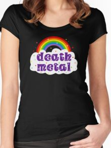 Death Metal Rainbow Women's Fitted Scoop T-Shirt
