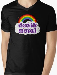Death Metal Rainbow Mens V-Neck T-Shirt