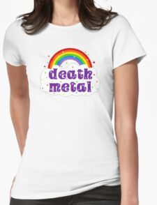Death Metal Rainbow Womens Fitted T-Shirt