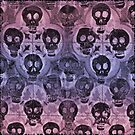 red violet skulls by likelikes